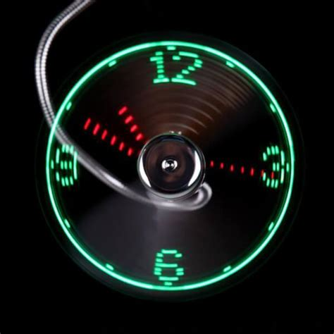 Usb Led Clock Fan usb led fan clock mymobile gear