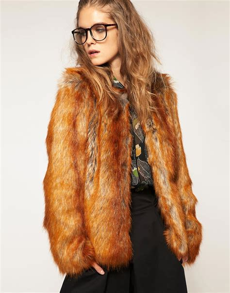 fur coat asos asos faux fox fur coat at asos
