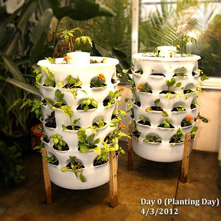 Garden Tower Planter by Building Resilience One Vertical Garden At A Time
