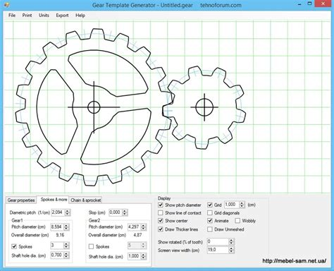 gear template generator program gear template generator program free