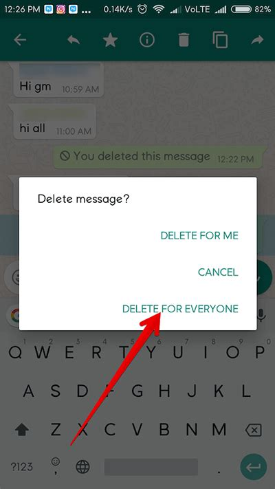 cancel android how to delete sent whatsapp message on iphone and android phone after delivered