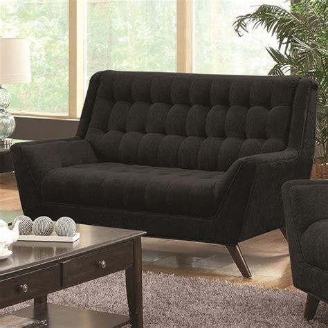 black fabric loveseat coaster natalia 503775 black fabric loveseat steal a
