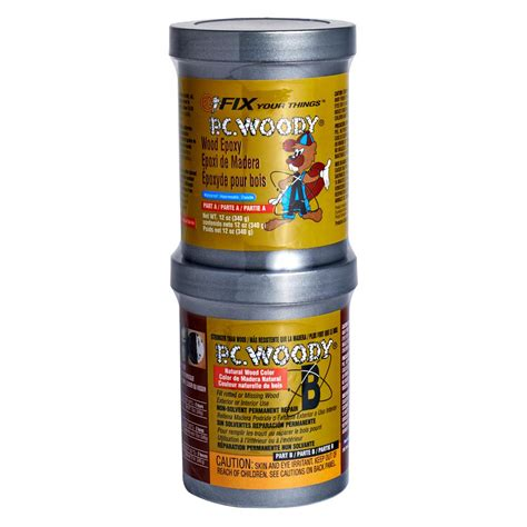 pc products 12 oz pc woody wood epoxy paste 163337 the home depot
