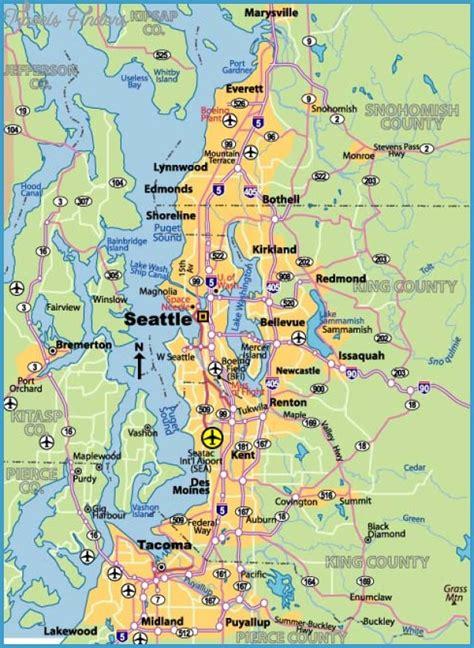 seattle washington map seattle map travelsfinders