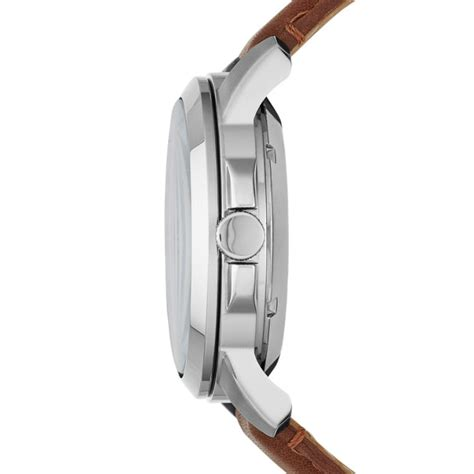 Fossil Grant Twist Me1144 grant twist multifunction brown leather fossil