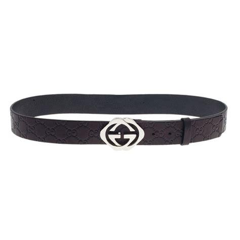Jual Belt Gucci Guccisima G Buckle With Web Mirror Quality 7 gucci black guccissima leather square interlocking g