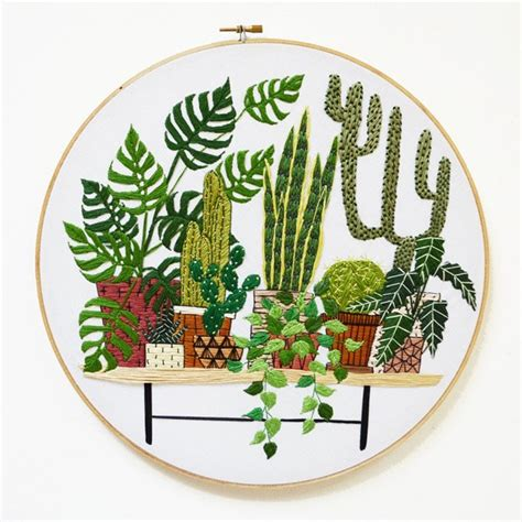 embroidered garden flowers botanical motifs for needle and thread make crafts books scouted benning embroidered plant artworks we are