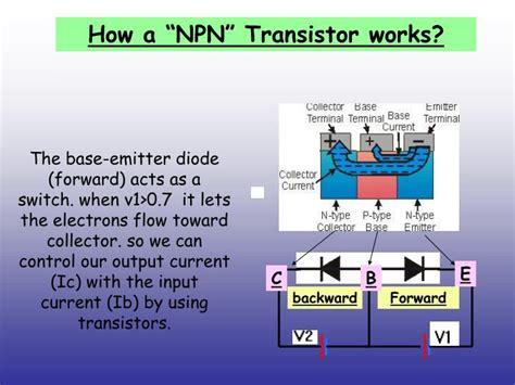 npn transistor working ppt transistor powerpoint presentation id 4279352