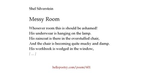 poems about bedrooms messy room by shel silverstein hello poetry