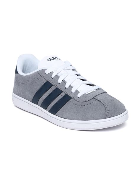 Adidas Neo Vl myntra adidas neo grey vl court suede casual shoes 655758 buy myntra adidas neo casual