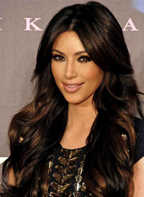 female celebrities brunette 2014 celebrity hairstyles brunette hair kim kardashian