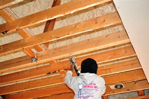 How To Put Plasterboard On Ceiling by How To Install A Drywall Ceiling Pro Construction Guide