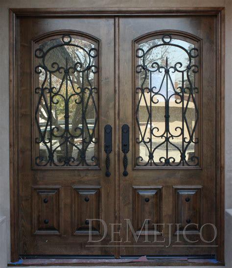 Exterior Wood Doors With Glass Panels by Double Puerta Avan Entry Doors Demejico