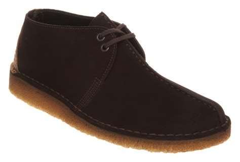 mens clarks desert trek brown suede boots ebay