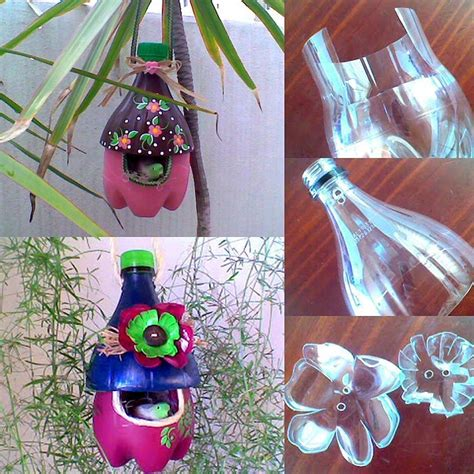 Arts And Crafts Plastic String - diy plastic bottle bird house home design garden