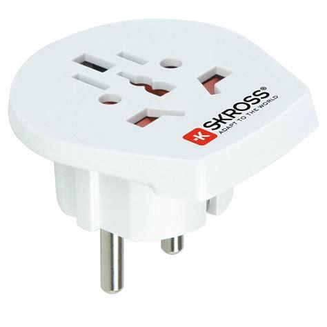 Adaptor 12 Volt 1 Ere skross single adapter europe rejseadapter bs cing