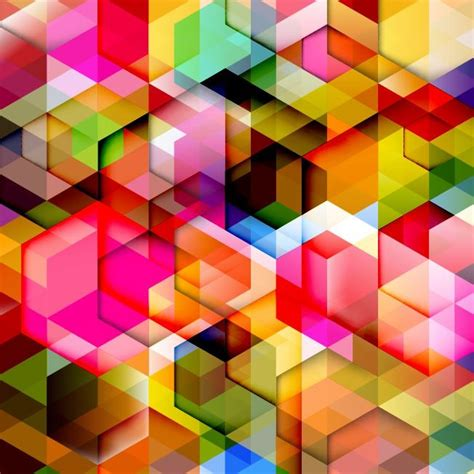 colorful design colorful geometry design abstract background vector