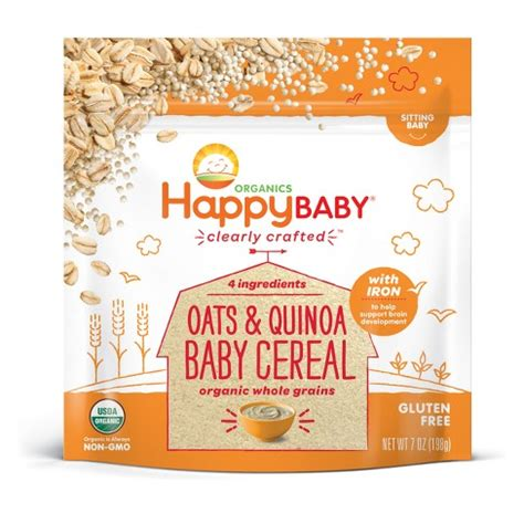 Happy Baby Cereal happybaby oats quinoa ancient grains baby cereal 7oz