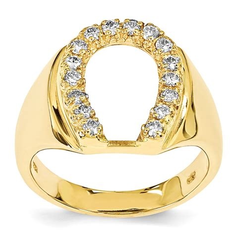 14k yellow gold s horseshoe ring