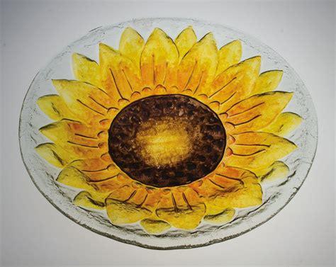 sunflower glass bird bath set   glass bird bath