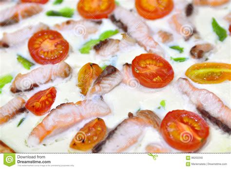 Links From Shrimp Roll Pizza To Pie Pans by Sea Food Pizza Pie Royalty Free Stock Image