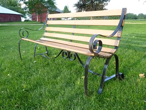 wrought iron park bench scroll park bench century farm crafts