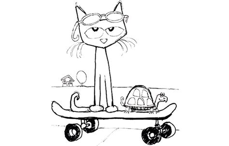 coloring page for pete the cat and his four groovy buttons pete the cat and his four groovy buttons coloring page