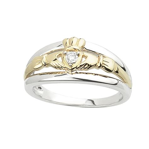 silver gold and claddagh ring fields ie