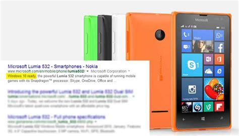 Hp Microsoft Lumia Windows 10 microsoft lumia 532 diklaim jadi hp windows 10 ready