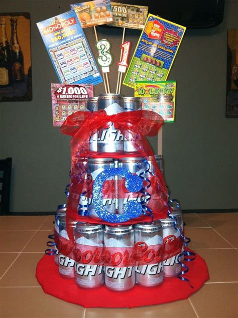 beer cake birthday gift for him my husband would probably enjoy