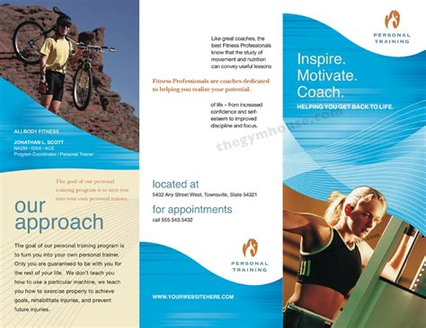 gym brochure blue wave the gymhouse