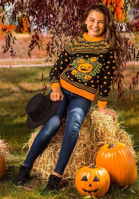 pumpkin patch child ugly halloween sweater