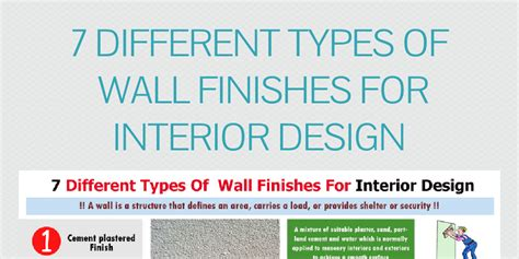 Different Types Of Paints For Interior Walls by 7 Different Types Of Wall Finishes For Interior Design By