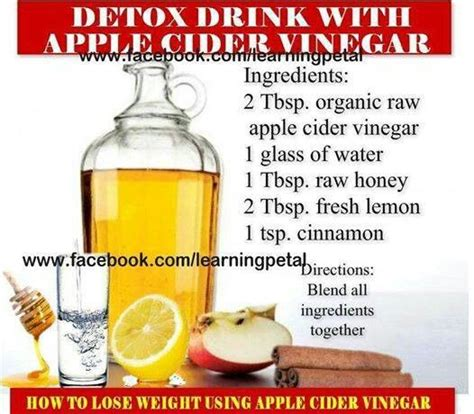 Ingredients For Apple Cider Vinegar Detox by 59 Best Images About Health Wellness On