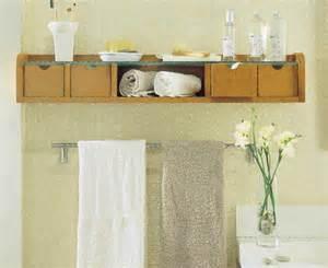 creative storage idea for a small bathroom interior