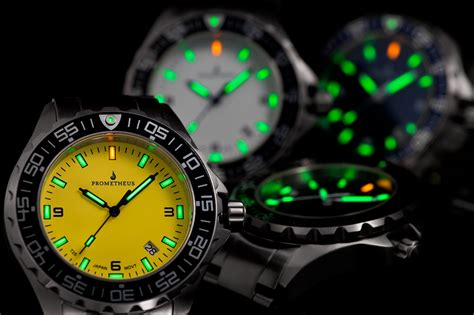 prometheus jellyfish yellow automatic tritium dive
