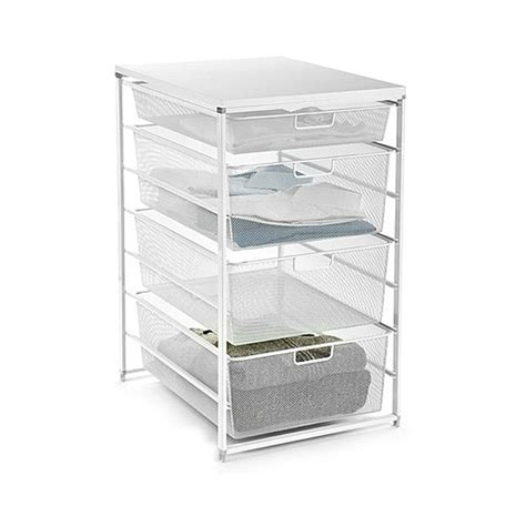 Mesh Storage Drawers by White Elfa Mesh Closet Drawers The Container Store