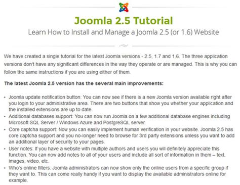 joomla programming tutorial how to build a site using joomla the best learning guides