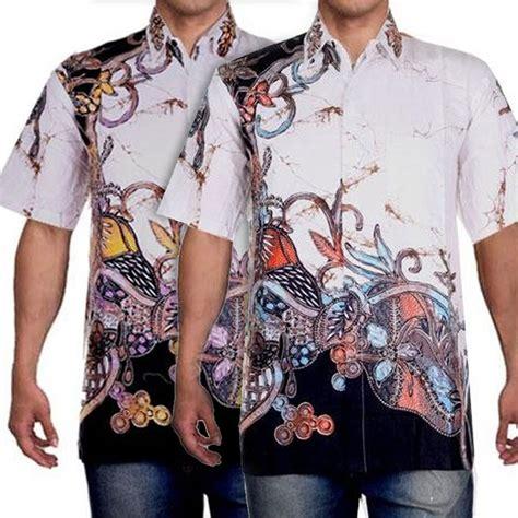 Atasan Kemeja Batik Pria Maikel baju pria atasan pria kemeja pria batik pria hem putih