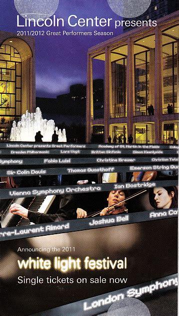lincoln center festival of lights lincoln center presents white light festival november 14