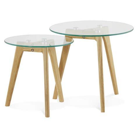 Arts De La Table Design 3760 by Tables Basses Design Gigognes En Verre Et Ch 234 Ne Massif