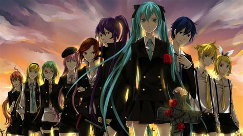 wallpaper anime 1600 x 900 anime girl team wallpapers 1600x900 408524