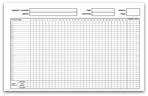 10 Best Images Of Blank Attendance Calendar Free Printable Attendance Sheets Monthly Class 10 Best Images Of Blank Attendance Calendar Free Printable Attendance Sheets Monthly Class