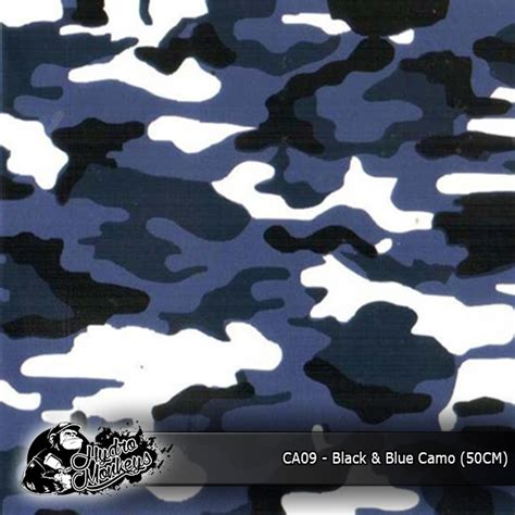 film blue negro black blue camo film 50cm spraylabs