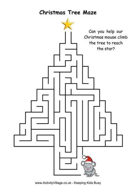 para imprimir v 225 rios christmas tree maze 4 efem 233 rides