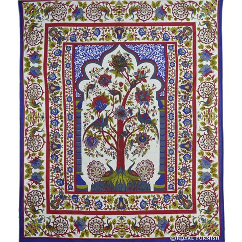 room tapestry white tree of room decor hippie tapestry wall hanging royalfurnish