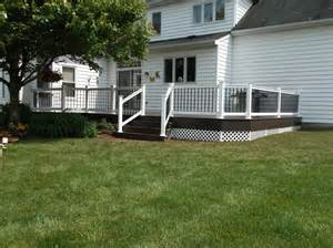 vinyl deck deck railing and spindles vinyl and wood deck rails