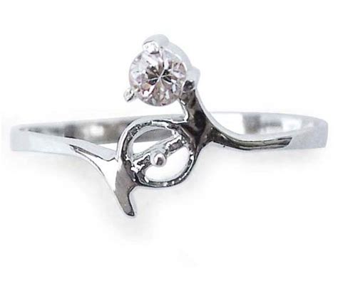 925 sterling silver pearl ring setting with single cz