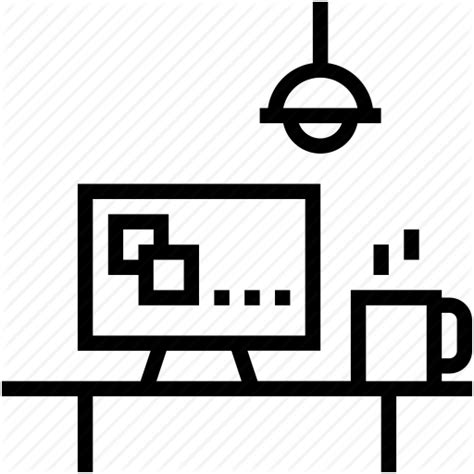 Office Desk Icon Furniture Office Office Desk Office Material Workstation Icon Icon Search Engine