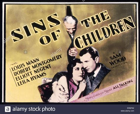 the sins of the the sins of the children us lobbycard top louis mann bottom mary stock photo royalty free